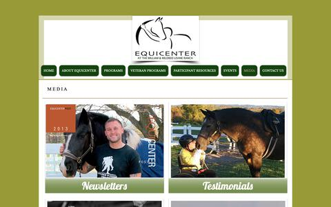 Screenshot of Press Page equicenterny.org - Therapeutic Riding | United States | EquiCenter Inc | MEDIA - captured Sept. 28, 2018