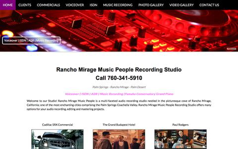 Screenshot of Home Page Contact Page ranchomiragemusicpeople.com - Rancho Mirage Music People - captured Aug. 6, 2018
