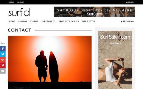 Screenshot of Contact Page surfd.com - Contact - Surfd - captured Dec. 2, 2016