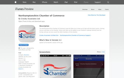 Screenshot of iOS App Page apple.com - Northamptonshire Chamber of Commerce on the App Store on iTunes - captured Nov. 5, 2014