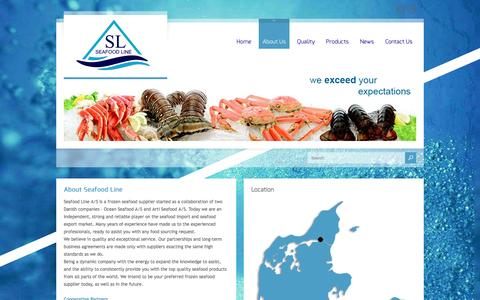 Screenshot of About Page seafoodline.dk - About Us - captured Nov. 19, 2016