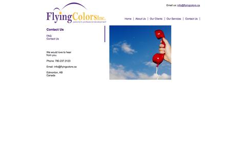 Screenshot of Contact Page flyingcolors.ca - Contact Us | Flying Colors Conflict Management - captured Oct. 6, 2014