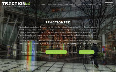Screenshot of Home Page tractiontek.com - TractionTek - captured Feb. 16, 2016