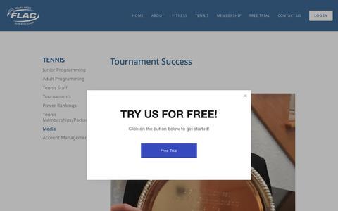 Screenshot of Press Page flaconline.com - Media — Four Lakes Athletic Club - captured Nov. 14, 2018
