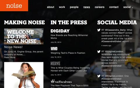Screenshot of Press Page thisisnoise.com - Noise | news - captured Oct. 26, 2014