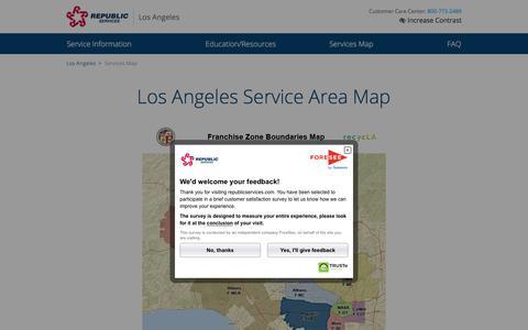 Los Angeles Waste Service Area | Republic Services