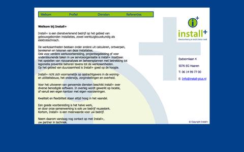 Screenshot of Home Page install-plus.nl - Install+ - captured Oct. 6, 2014