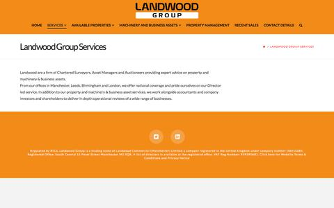 Screenshot of Services Page landwoodgroup.com - Landwood Group Services - Landwood Group - captured July 16, 2018