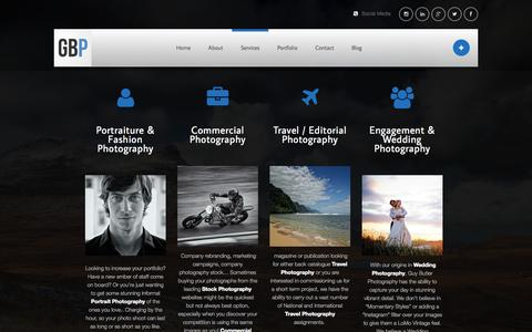 Screenshot of Services Page guybutlerphotography.com - Services | Guy Butler Photography - captured Sept. 30, 2014