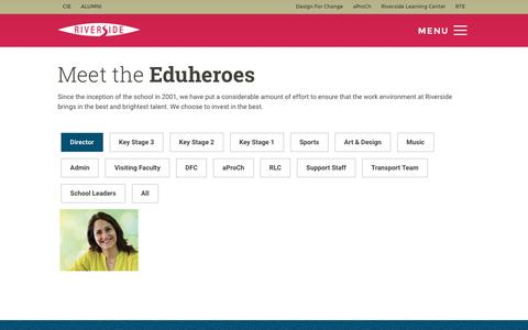 Screenshot of Team Page schoolriverside.com - Team - captured May 21, 2016