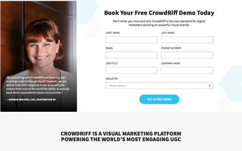 Request a Crowdriff Demo: UGC and Visual Marketing Platform