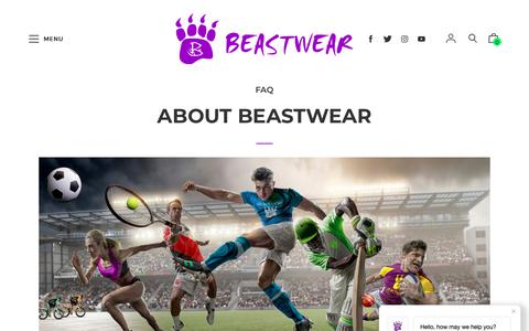 Screenshot of About Page beastwear.com.au - ABOUT BEASTWEAR – Beastwear - captured Nov. 6, 2018
