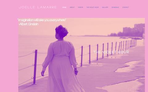 Screenshot of Home Page joellelamarre.com - Soprano | Joelle Lamarre - captured Oct. 14, 2018