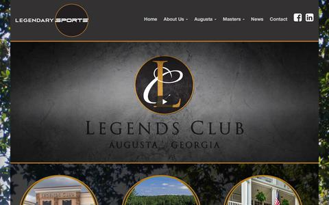 Screenshot of Home Page legendarysports.com - Masters Tournament packages in Augusta GA | Legendary Sports - captured July 18, 2018