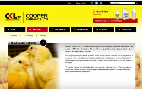 Screenshot of About Page coopers.co.ke - Cooper K-Brands Ltd - About Cooper K-Brands - captured Oct. 3, 2014