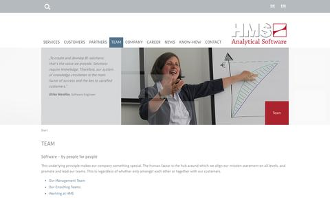 Screenshot of Team Page analytical-software.de - HMS Analytical Software: Team - captured Nov. 25, 2016