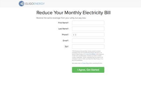 Screenshot of Signup Page eligoenergy.com - Submit Your Enrollment - Online Customer Enrollment - Eligo Energy - captured Sept. 29, 2014