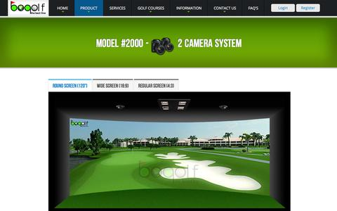 Screenshot of Products Page bogolf.in - Model 2000 Camera Golf Simulator | BOGolf India - captured Oct. 4, 2014