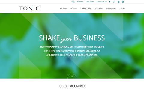 Screenshot of Home Page staytonic.it - Tonic web agency Livorno: Web Strategy,Design,Marketing - captured Sept. 20, 2015