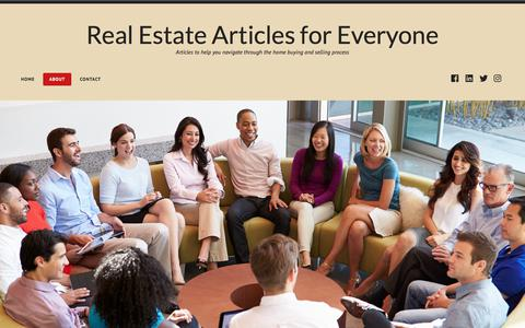Screenshot of About Page wordpress.com - About – Real Estate Articles for Everyone - captured Jan. 27, 2018