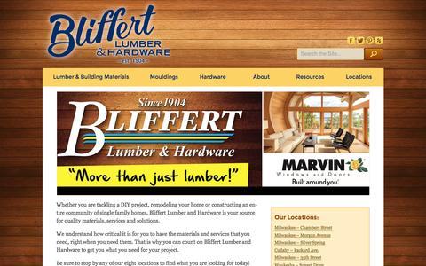 Screenshot of Home Page bliffertlumber.com - Bliffert Lumber - captured Feb. 7, 2016