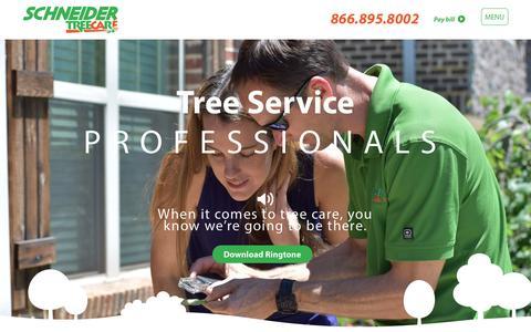 Screenshot of Home Page schneidertree.com - Homepage - Schneider Tree Care - captured Oct. 5, 2017