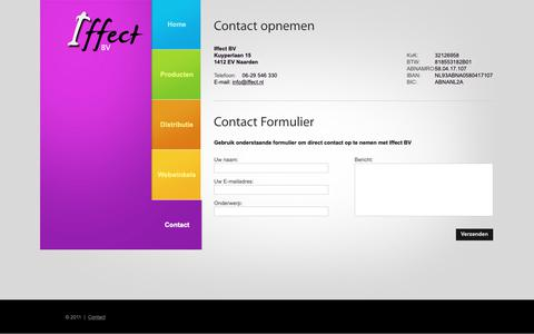 Screenshot of Contact Page iffect.nl captured Oct. 11, 2018