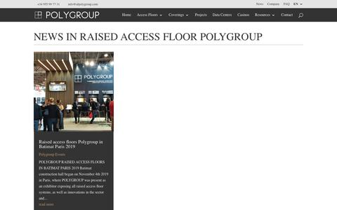 Screenshot of Press Page accessfloorpolygroup.com - News in Raised Access Floor Polygroup - Access Floor Polygroup - captured Jan. 23, 2020