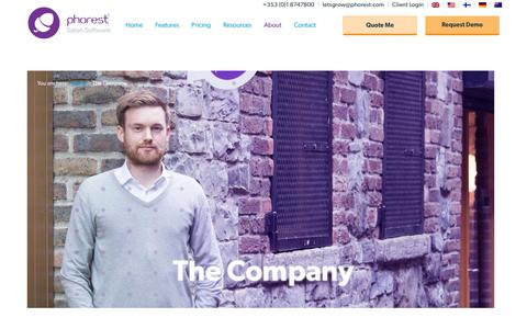 Screenshot of About Page phorest.com - The Company | Phorest - captured March 16, 2019