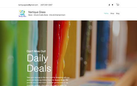 Screenshot of Home Page nartiqueglass.com - Home   Nartique Glass - captured Nov. 15, 2017