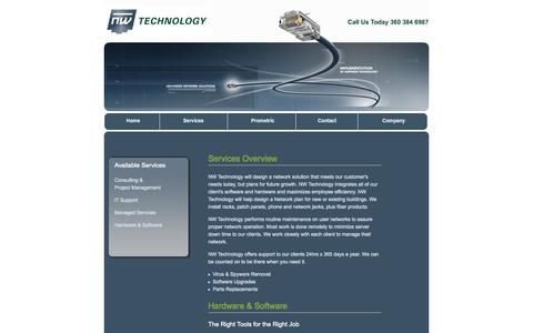 Screenshot of Services Page nwtechnology.com - NW Technology - Services: Consulting, IT Support, Managed Services - captured Oct. 26, 2014