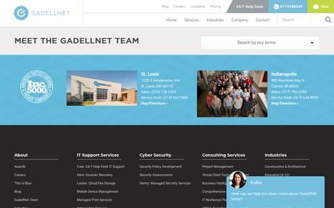 Screenshot of Team Page gadellnet.com - GadellNet Team   GadellNet - captured May 16, 2019
