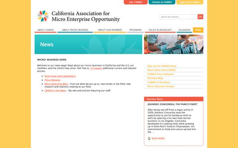 Screenshot of Press Page microbiz.org - Micro-business News  «  CAMEO - captured Sept. 26, 2018