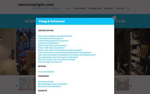 Screenshot of FAQ Page switchmylight.com - Switchmylight.com - De eenvoudige en betaalbare switch naar de beste LED - captured Aug. 16, 2016