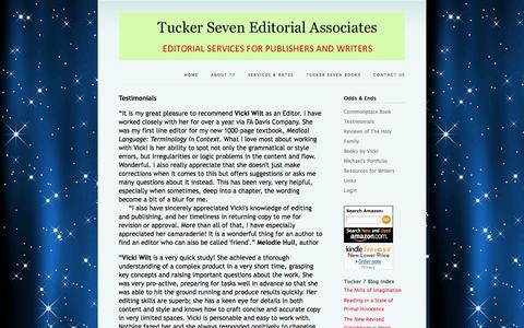 Screenshot of Testimonials Page tuckerseven.com - Tucker Seven - Testimonials - captured Oct. 6, 2014