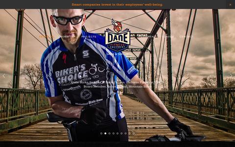 Screenshot of Home Page danefit.com - Dane Fitness - captured Oct. 5, 2014