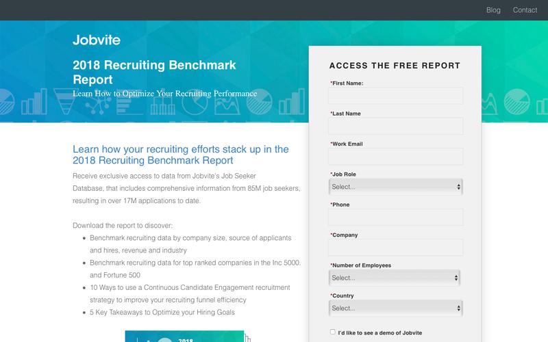 2018 Recruiting Benchmark Report: Learn How to Optimize Your Recruiting Performance