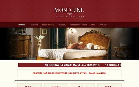 Screenshot of Home Page mondline.rs - Mondline d.o.o. | Salon nameštaja | Italijanski stilski nameštaj - captured Oct. 10, 2015