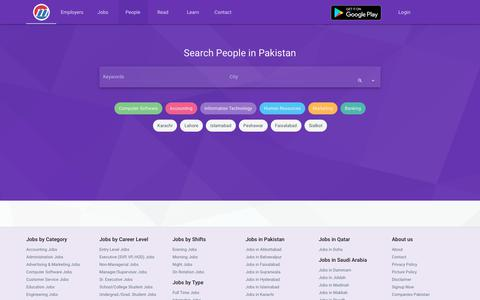 Screenshot of Team Page mustakbil.com - Search and find Professionals in Pakistan - Largest Resume Database - captured Sept. 21, 2018
