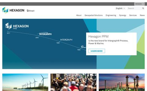 Screenshot of Home Page hexagon.com.br - Hexagon Brazil | Shaping Smart Change - captured July 6, 2018