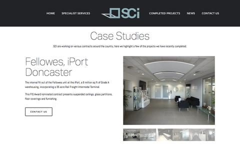 Screenshot of Case Studies Page sciltd.org.uk - Completed Projects — SCI - captured Oct. 6, 2017