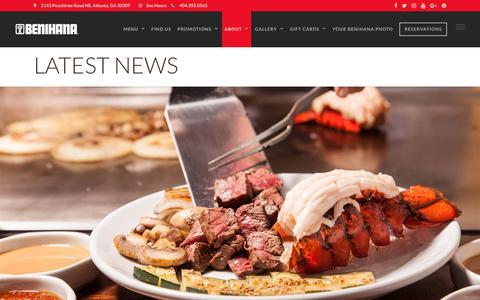 Screenshot of Press Page benihana.com - Sushi & Japanese Steakhouse | Latest News | Benihana - captured June 1, 2017