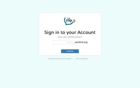 Screenshot of Login Page uandme.org - Plus – An Enterprise Messaging System - captured Nov. 17, 2016