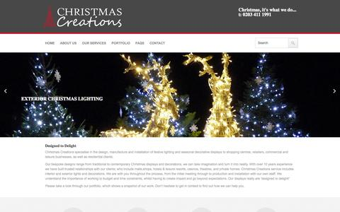 Screenshot of Home Page christmas-creations.com - Christmas Creations - captured Oct. 2, 2014