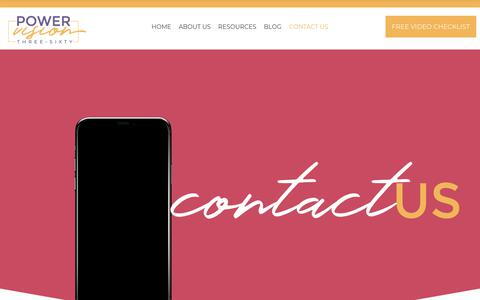 Screenshot of Contact Page powervision360.com - CONTACT US - PowerVision360 Productions, LLC - captured Sept. 29, 2018