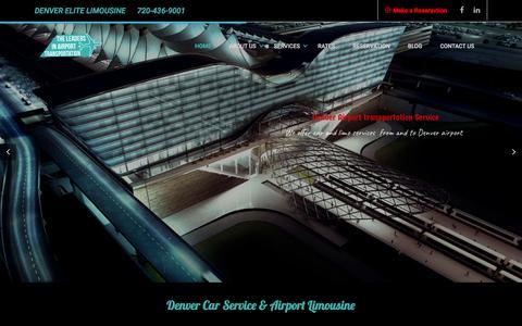 Screenshot of Home Page denver-elitelimousine.com - Airport Transportation: Denver car & limousine Services - captured Aug. 1, 2016