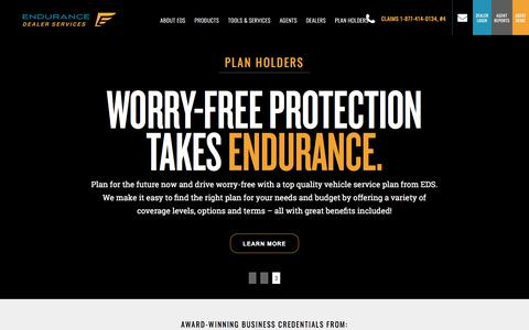 Screenshot of Home Page enduranceds.com - Home - captured April 26, 2018