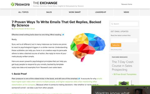 7 Proven Ways To Write Emails That Get Replies, Backed By Science - Yesware Blog