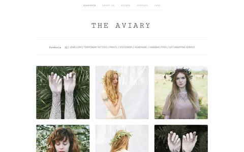 Screenshot of Products Page the-aviary.co.uk - PRODUCTS / The Aviary - captured Oct. 26, 2014