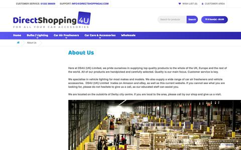 Screenshot of About Page directshopping4u.com - About Us - DS4U UK Limited - captured Oct. 7, 2018